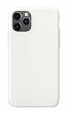 Eiroo Lansman iPhone 11 Pro Beyaz Silikon Kılıf