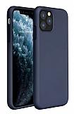 Eiroo Lansman iPhone 11 Pro Lacivert Silikon Kılıf