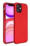 Eiroo Lansman iPhone 11 Kırmızı Silikon Kılıf