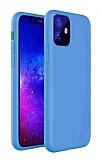 Eiroo Lansman iPhone 11 Mavi Silikon Kılıf