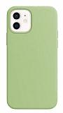 Eiroo Lansman iPhone 12 / iPhone 12 Pro 6.1 inç Açık Yeşil Silikon Kılıf