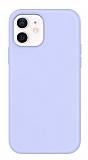Eiroo Lansman iPhone 12 / iPhone 12 Pro 6.1 inç Lila Silikon Kılıf