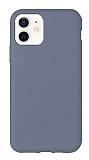Eiroo Lansman iPhone 12 / iPhone 12 Pro 6.1 inç Koyu Gri Silikon Kılıf