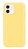 Eiroo Lansman iPhone 12 / iPhone 12 Pro 6.1 inç Sarı Silikon Kılıf