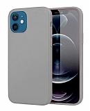 Eiroo Lansman iPhone 12 Mini 5.4 inç Gri Silikon Kılıf