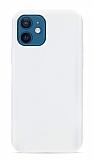 Eiroo Lansman iPhone 12 Mini 5.4 inç Beyaz Silikon Kılıf