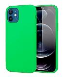 Eiroo Lansman iPhone 12 Mini 5.4 inç Açık Yeşil Silikon Kılıf
