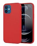 Eiroo Lansman iPhone 12 Mini 5.4 inç Bordo Silikon Kılıf