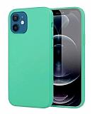 Eiroo Lansman iPhone 12 Mini 5.4 inç Turkuaz Silikon Kılıf