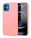 Eiroo Lansman iPhone 12 Mini 5.4 inç Pembe Silikon Kılıf