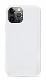Eiroo Lansman iPhone 12 Pro Max 6.7 inç Beyaz Silikon Kılıf
