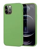 Eiroo Lansman iPhone 12 Pro Max 6.7 inç Koyu Yeşil Silikon Kılıf