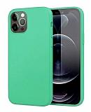 Eiroo Lansman iPhone 12 Pro Max 6.7 inç Turkuaz Silikon Kılıf