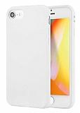 Eiroo Lansman iPhone 7 / 8 Beyaz Silikon Kılıf