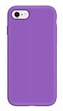 Eiroo Lansman iPhone 7 / 8 Mor Silikon Kılıf