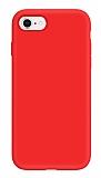 Eiroo Lansman iPhone 7 / 8 Kırmızı Silikon Kılıf