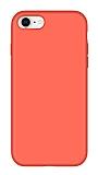 Eiroo Lansman iPhone 7 / 8 Turuncu Silikon Kılıf