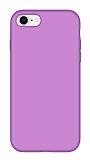 Eiroo Lansman iPhone 7 / 8 Lila Silikon Kılıf