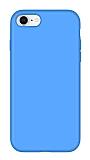 Eiroo Lansman iPhone 7 / 8 Mavi Silikon Kılıf