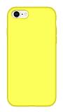 Eiroo Lansman iPhone 7 / 8 Sarı Silikon Kılıf