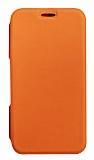 Eiroo Lansman iPhone 7 Plus / 8 Plus Silikon Kapaklı Turuncu Kılıf