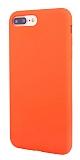 Eiroo Lansman iPhone 7 Plus / 8 Plus Turuncu Silikon Kılıf