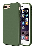 Eiroo Lansman iPhone 7 Plus / 8 Plus Koyu Yeşil Silikon Kılıf