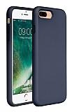 Eiroo Lansman iPhone 7 Plus / 8 Plus Lacivert Silikon Kılıf