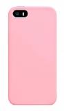 Eiroo Lansman iPhone SE / 5 / 5S Açık Pembe Silikon Kılıf