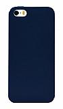 Eiroo Lansman iPhone SE / 5 / 5S Lacivert Silikon Kılıf