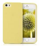 Eiroo Lansman iPhone SE / 5 / 5S Sarı Silikon Kılıf