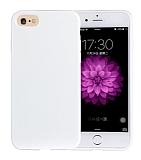 Eiroo Lansman iPhone SE / 5 / 5S Beyaz Silikon Kılıf