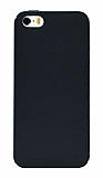 Eiroo Lansman iPhone SE / 5 / 5S Siyah Silikon Kılıf