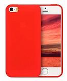 Eiroo Lansman iPhone SE / 5 / 5S Kırmızı Silikon Kılıf