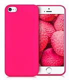 Eiroo Lansman iPhone SE / 5 / 5S Pembe Silikon Kılıf