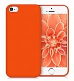 Eiroo Lansman iPhone SE / 5 / 5S Turuncu Silikon Kılıf