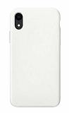 Eiroo Lansman iPhone XR Beyaz Silikon Kılıf