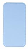 Eiroo Lansman iPhone XR Silikon Kapaklı Mavi Kılıf