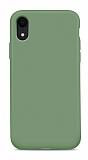Eiroo Lansman iPhone XR Koyu Yeşil Silikon Kılıf