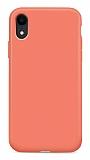 Eiroo Lansman iPhone XR Turuncu Silikon Kılıf
