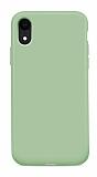 Eiroo Lansman iPhone XR Yeşil Silikon Kılıf