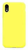 Eiroo Lansman iPhone XR Sarı Silikon Kılıf