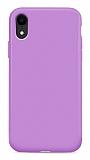 Eiroo Lansman iPhone XR Lila Silikon Kılıf