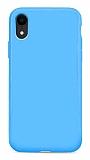 Eiroo Lansman iPhone XR Mavi Silikon Kılıf
