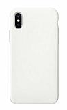 Eiroo Lansman iPhone XS Max Beyaz Silikon Kılıf