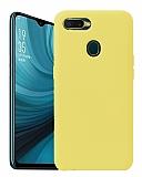 Eiroo Lansman Oppo AX7 / Oppo A5s Sarı Silikon Kılıf