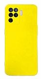 Eiroo Lansman Oppo A94 Kamera Korumalı Sarı Silikon Kılıf