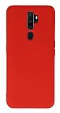 Eiroo Lansman Oppo Reno A9 2020 Kırmızı Silikon Kılıf