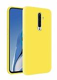 Eiroo Lansman Oppo Reno2 Z Sarı Silikon Kılıf