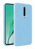 Eiroo Lansman Oppo Reno2 Z Mavi Silikon Kılıf